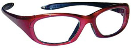 Maxi Wraparound Glasses Crimson