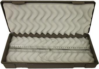 Light Field Centering Ruler 400mm closed in case